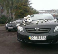 Весільний кортеж Toyota Corolla