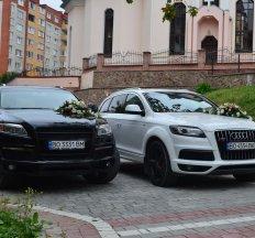 Весільний кортеж Audi Q7, авто на весілля, оренда авто з водієм